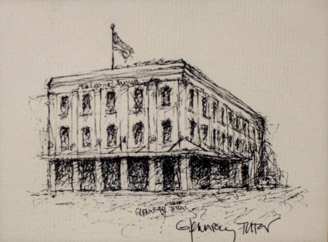 Sketch of the Thompson House by Glennray Tutor